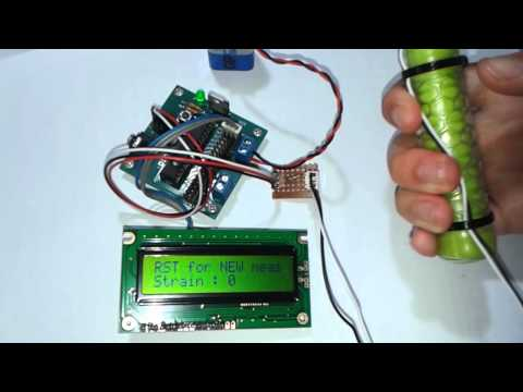 DIY Hand Dynamomter - Strain or Stress measurement using PICAXE or Arduino