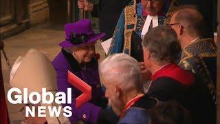 Royals arrive for Armistice remembrance service