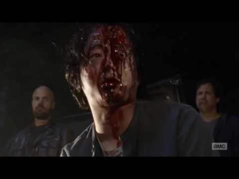 Negan kills Abraham and Glenn The Walking Dead Season 7 Episode 1