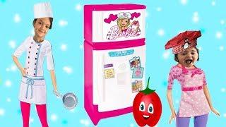 ANNEMİN BİZE BÜYÜK SÜRPRİZİ! BARBİE BUZ DOLABI VE KOMİK ANLAR - Comedy for Kids  The Funniest Kids