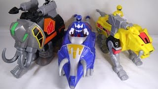 Review: Imaginext Mighty Morphin Power Rangers - Mastodon, Triceratops, & Sabertooth Tiger Zords
