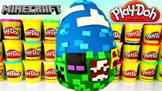 GIANT MINECRAFT Play Doh Surprise Egg Series 2 Blind Bag Blind Box Hangers Stone Series