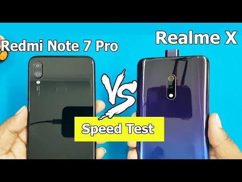 Realme X vs Redmi Note 7 Pro SpeedTest Comparison