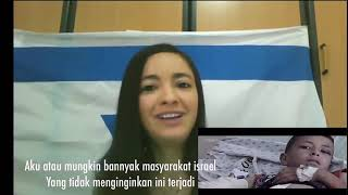 Ekspresi wanita Israel melihat video nissa sabyan Atouna El Foutoule