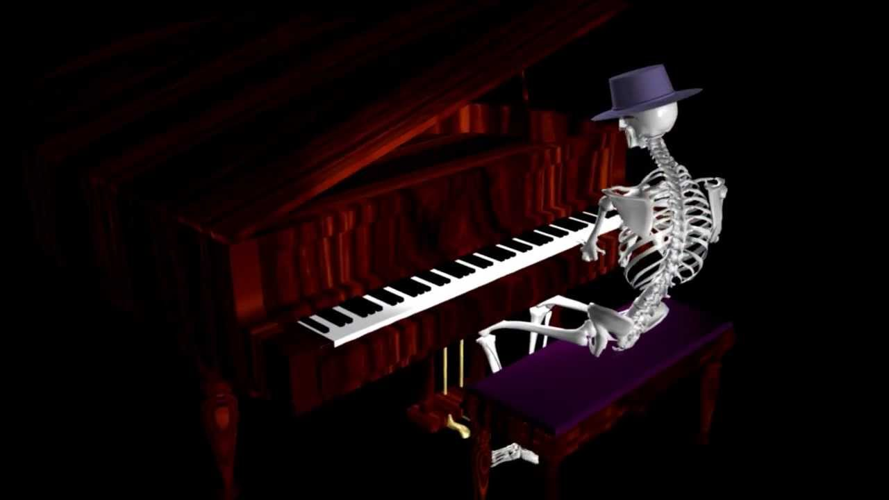 Funny Skeleton - Piano Player - FREE * - YouTube