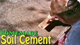 Homemade Soil Cement - Simple & Cheap Home Application