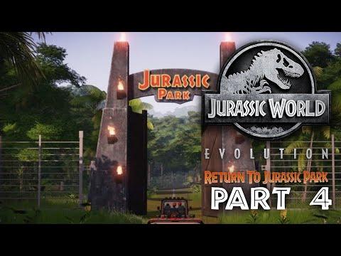 Jurassic World Evolution - REGRESO AL PARQUE JURÁSICO Guía de Juego Parte 4 - EL PARQUE ESTÁ ABIERTO + vídeo