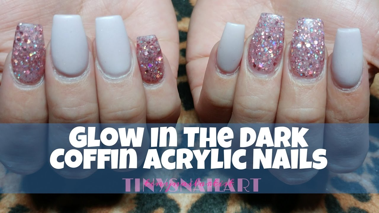 Glow In The Dark Coffin Nails - YouTube