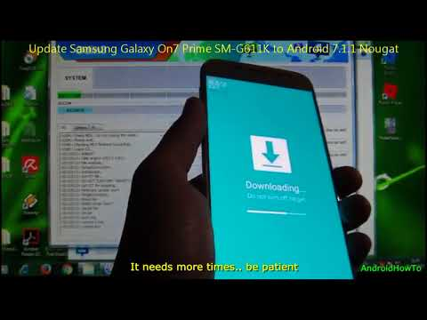 Update Samsung Galaxy On7 Prime SM-G611K to Android 7.1.1 Nougat