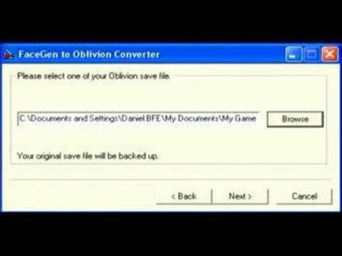Convert From FaceGen To Oblivion