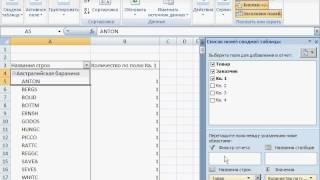 4-3 Управление полями сводной таблицы. Excel 2007 для начинающих