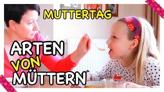ARTEN von MÜTTERN 😂 👩 MUTTERTAGS-SPECIAL❤️ mit Frühstück 😋Kleine Familienwelt