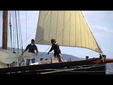 Sailing Olga: Swansea Bay boat trips on historic Pilot Cutter