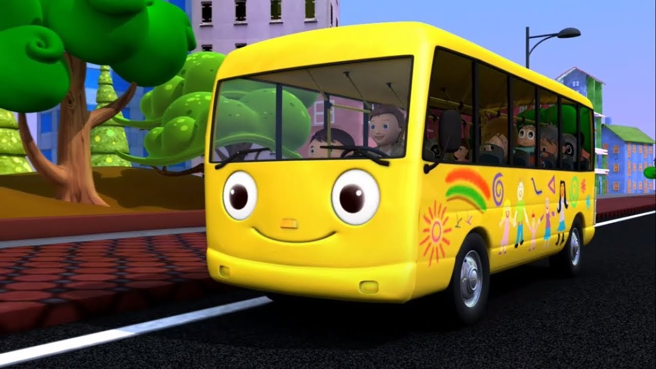 The Wheels On The Bus Go Round And Round Kids Songs