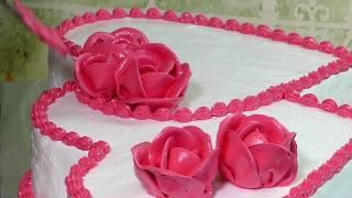 как сделать торт сердце своими руками | мк торт двойное сердце