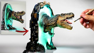 How To Make a T-Rex aฑd Warp Gate Diorama / Polymer Clay / Epoxy resin