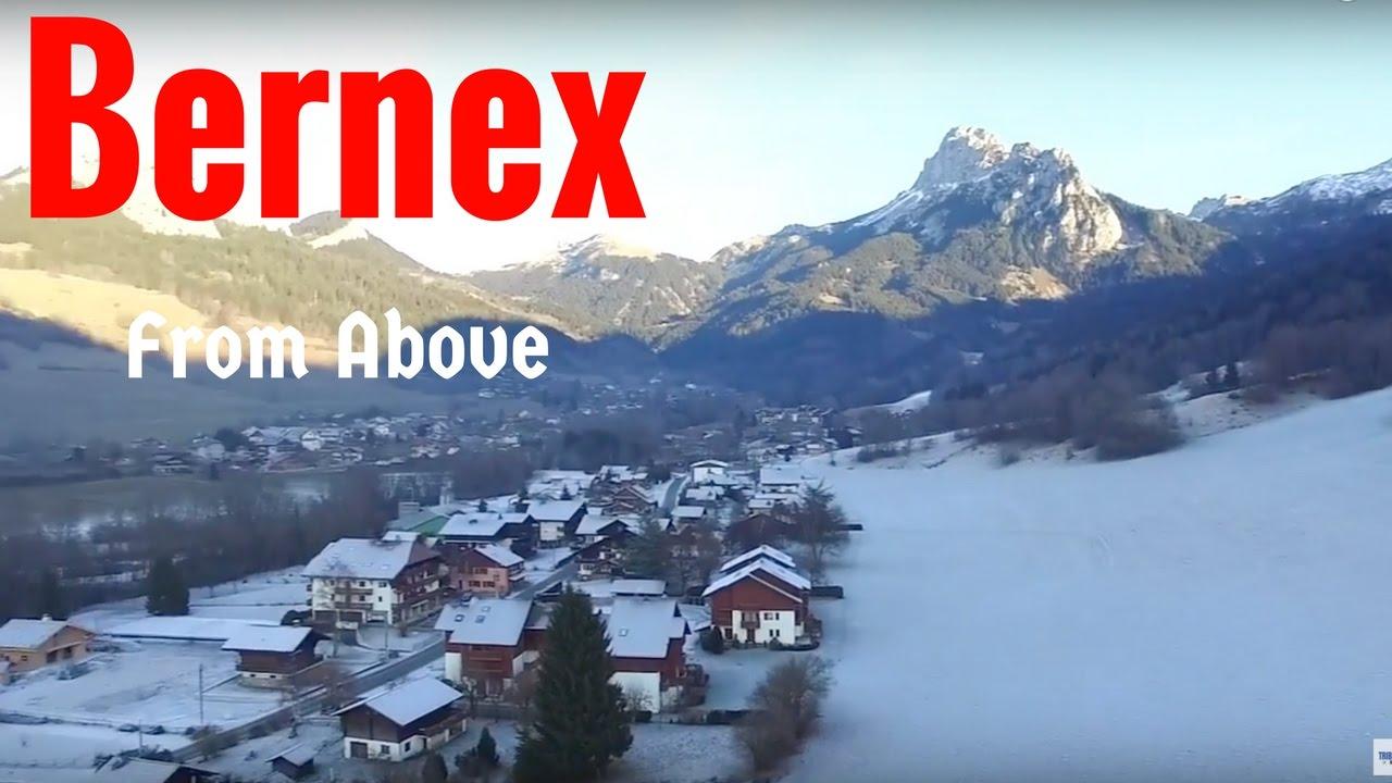 bernex ski resort from above - youtube