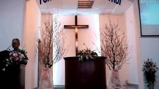 Bà Hồng Ân cầu nguyện đáp ứng lời Chúa- HTTL Thanh Đa- 22012012