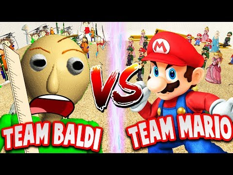 BALDI vs MARIO (Who will win?!) - Baldi's Basics Gmod Gameplay - 동영상