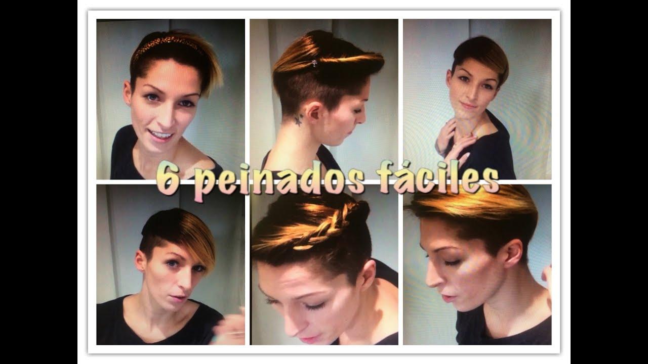6 Peinados Fciles Pelo Muy Corto 6 Easy Very Short