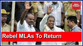 Miffed Congress MLAs To Return To Bengaluru; Relief For JDS- Congress ?