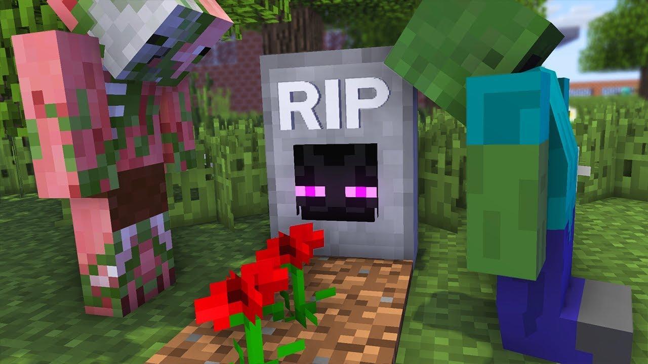 Monster School : RIP Enderman Challenge - Minecraft Animation