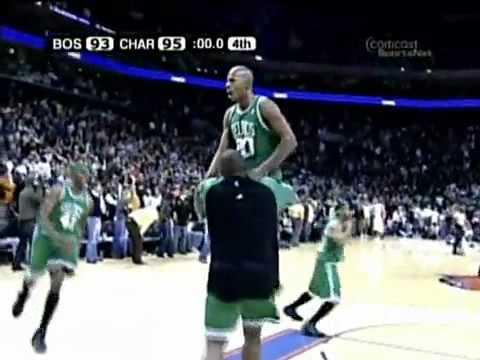 Ray Allen Game Winner Boston Celtics VS Charlotte Bobcats 96-95
