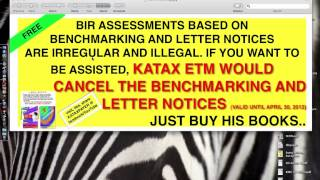 cancelling bir benchmark letter notice assessments