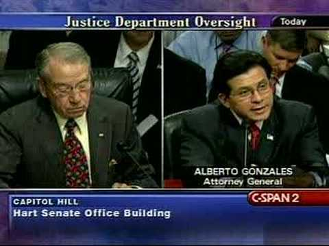 Senate Judiciary Committee w/Alberto Gonzales-7/24/07 Pt13