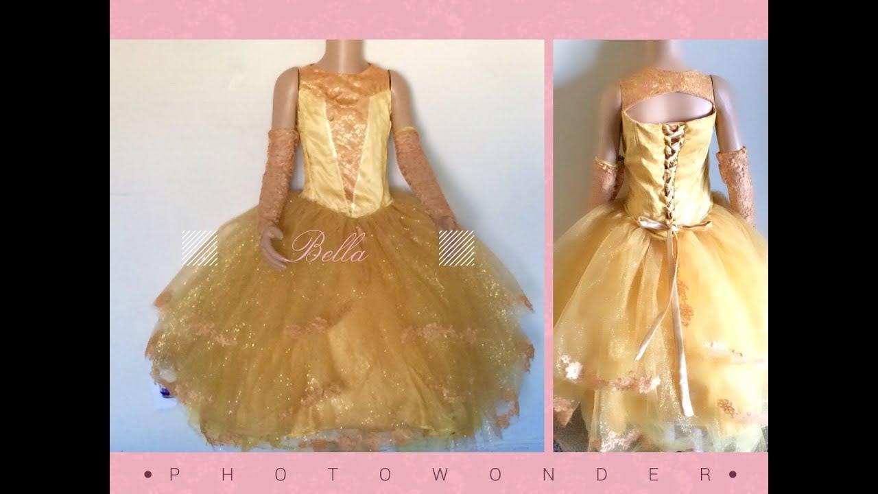 a6591954c Confecciona vestido princesa bella disfraz - YouTube