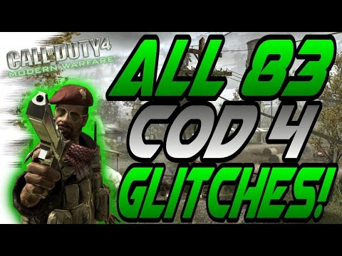 *2016* All 83 Unpatched CoD 4 Glitches! - Solo, Online, Working Glitches (Modern Warfare Remastered)