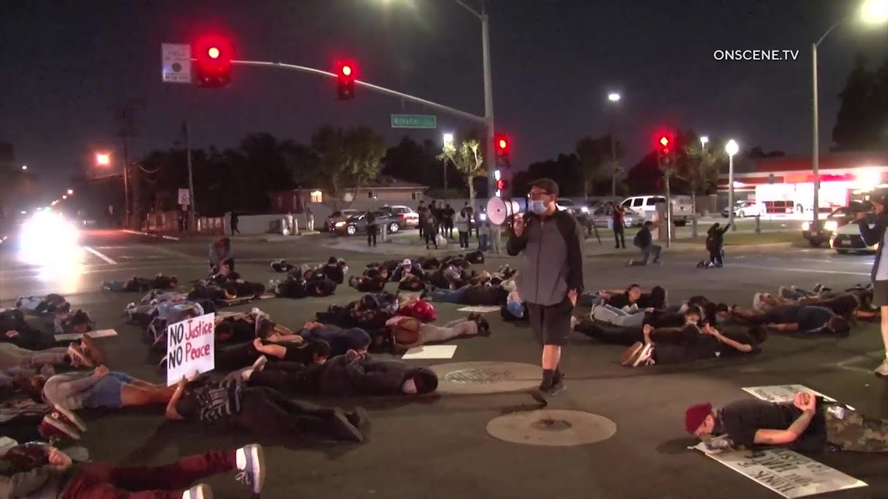 Protesters Defy Curfew, Call For Answers In LASD Shooting In Santa Ana