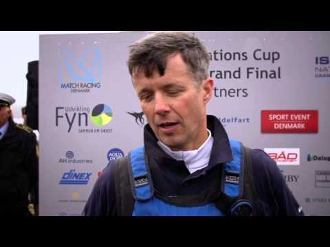 ISAF Nations Cup, His Royal Highness Crown Prince Frederik of Denmark on the Podium.