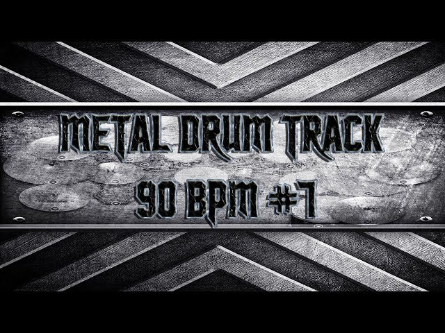 Easy Metal Drum Track 90 BPM (HQ,HD)