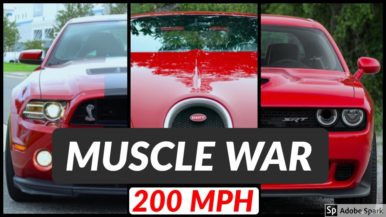Shelby mustang gt500 vs dodge hellcat vs bugatti veyron top speed and acceleration comparison