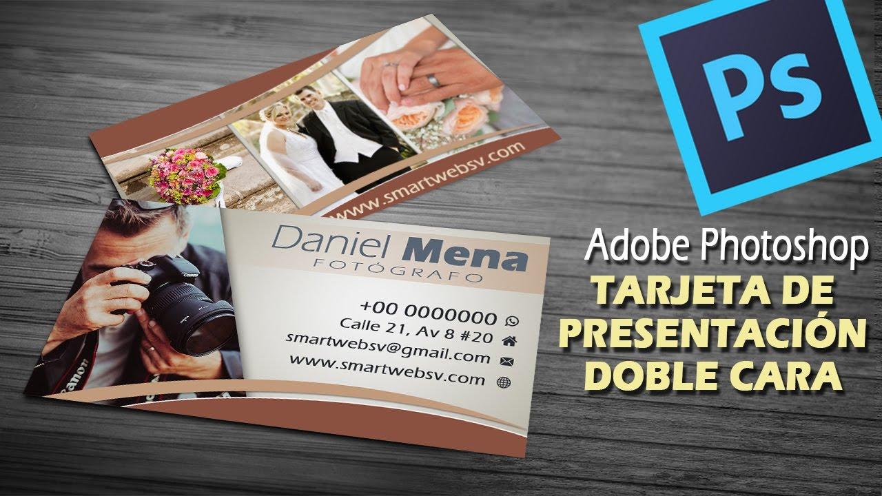 Crear tarjeta de presentación doble cara con Photoshop | Tutorial ...
