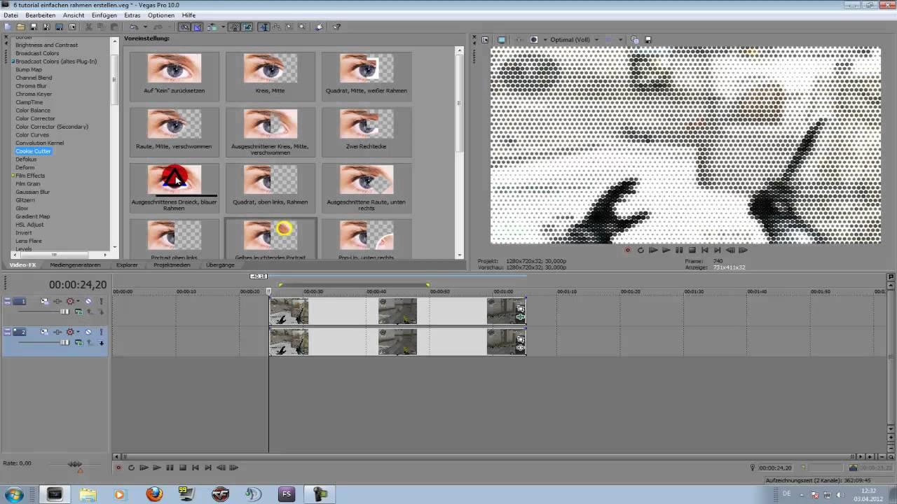 Sony Vegas - Rahmen erstellen TUTORIAL DEUTSCH/GERMAN - YouTube