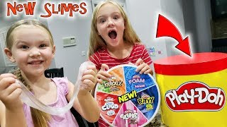 Opening New Play-Doh Slime, Putty, & Foam Compounds!!!