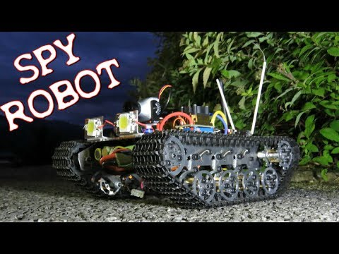 SPY ROBOT RC + FPV BY NIGHT - DRONE ROULANT 2 CAMERA ONBOARD UAV ROBOT ESPION 间谍