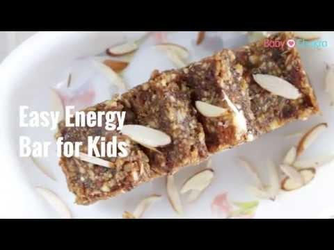 Toddler Recipes: Easy Energy Bar for Kids