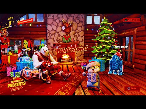 *ALL* PRESENTS OPENED! Fortnite Winterfest 2020 Gameplay Trailer (Free Skins, Emote Update Today)