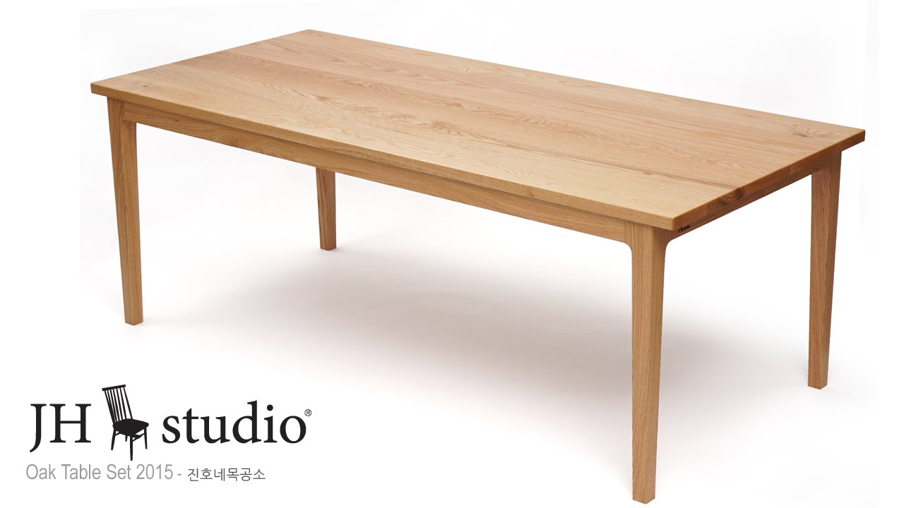 오크 원목식탁 제작기 - Oak DinigTable making - YouTube