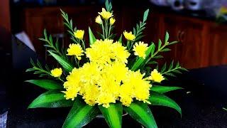 Cắm Hoa Bàn Thờ ❤ Cắm Đĩa Hoa Cúc Chi Tiết Nhất ❤ Món Ăn Ngon Nhà Nấu ❤