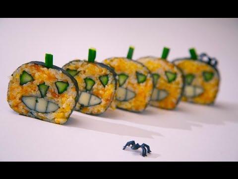 Como preparar sushi maki para Halloween / How to make Halloween Sushi