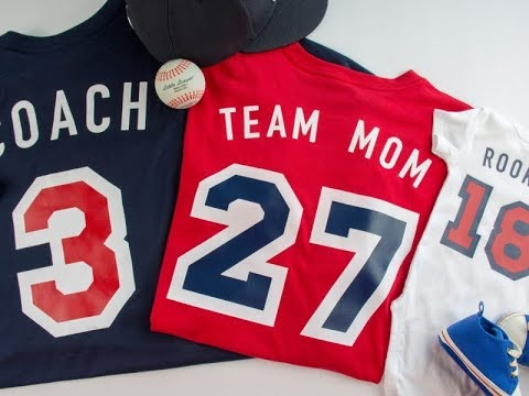 Customized Family Collection of Baseball Shirts Using the
