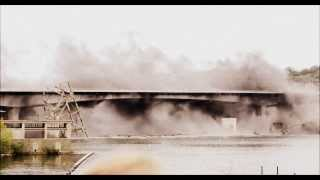 Bridge Explosion Demolition (with slow motion) Chemistry