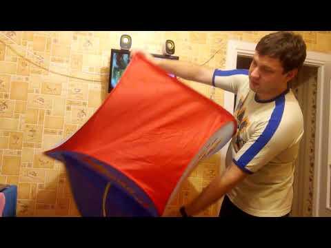 Как собрать детский домик палатку видео