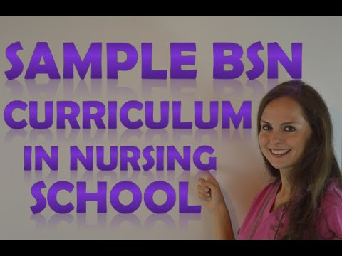 Nursing School Curriculum for BSN | Bachelors Degree in Nursing School Class Schedule