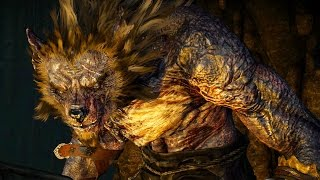 Witcher 3: Morkvarg the Werewolf Boss Fight (Hard Mode) (4K 60fps)