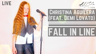 CHRISTINA AGUILERA feet Demi Lovato Трифонова Алиса cover Fall in line